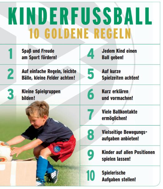 10 Goldenen Regeln des Kinderfußballs